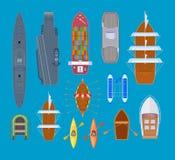 Przyjemności łodzie i okręty wojenni, morze statki, sporta czółno, naczynia, prom Zdjęcie Stock