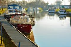 Przyjemności łodzie Obrazy Royalty Free