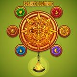 Przykład nadokienni wybrani elementy dla gry komputerowej ilustracja wektor
