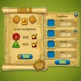 Przykład nadokienny poziom uzupełniał dla gry komputerowej ilustracja wektor