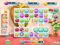 Przykład plac zabaw i interfejs użytkownika dla gry ilustracji