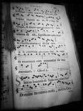 Przykład wczesna muzyczna notacja fotografia stock