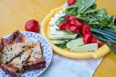 Przykład zdrowy odżywianie od świeżych warzyw obrazy royalty free