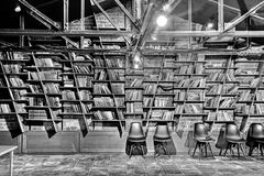 Przykład biblioteczny wystrój Fotografia Royalty Free