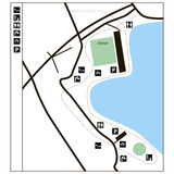 Przykładu kartografować parkland Zdjęcia Royalty Free