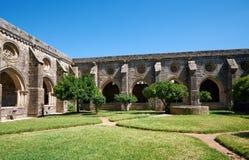 Przyklasztorny circumjacent wewnętrzny podwórze katedra Evora (Se) Portugalia obraz stock
