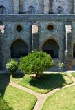 Przyklasztorny i wewnętrzny podwórze katedra Evora (Se) Portugalia fotografia stock
