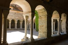 Przyklasztorny opactwo Sant Pere De Rodes, Hiszpania zdjęcie royalty free
