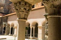 Przyklasztorny opactwo Sant Pere De Rodes, Hiszpania obrazy stock