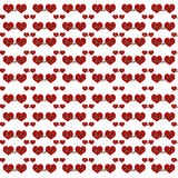 Przykuwająca serc Cyfrowego kolażu ilustracja Zdjęcie Stock