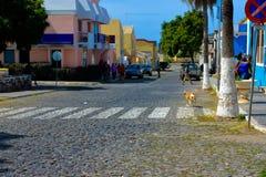 Przylądka Verde miasteczko, podróż Afryka, Tarrafal wioska, Santiago wyspa zdjęcia stock