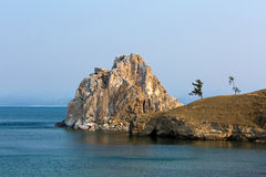 Przylądek Burhan i szaman kołysamy na Olkhon wyspie na jeziornym Baikal Obrazy Royalty Free