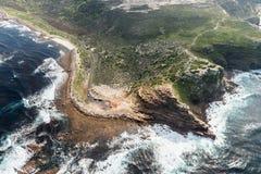 Przylądek dobry nadziei Południowa Afryka widok z lotu ptaka Fotografia Stock