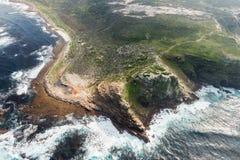 Przylądek dobry nadziei Południowa Afryka widok z lotu ptaka Obraz Royalty Free