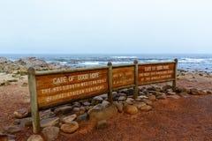 Przylądek Dobry nadzieja znak, Południowa Afryka Fotografia Stock
