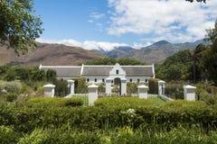 Przylądek Holenderska architektura, wytwórnia win, Południowa Afryka Zdjęcie Stock
