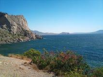 Przylądek Kapchik Wioska Nowy Światowy Crimea zdjęcie stock