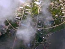 Przylądek Lazarev w morzu Okhotsk zdjęcie stock