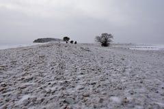 Przylądek Uyuga pudrujący z śniegiem fotografia royalty free