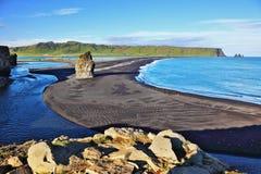 Przylądek w południowym Iceland zdjęcie royalty free