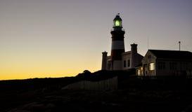 Przylądka Agulhas latarnia morska - Africa& x27; s południowy punkt Zdjęcie Royalty Free