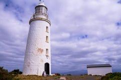 Przylądka Bruny latarnia morska przy wyspą Obrazy Royalty Free