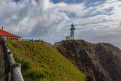Przylądka Byron światło - najwięcej potężnej latarni morskiej w Australia fotografia royalty free