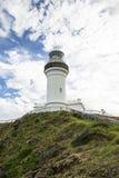 Przylądka Byron latarnia morska, spod spodu fotografia stock