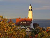 Przylądka Elizabeth latarni morskiej zmierzch zdjęcie royalty free