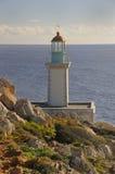 przylądka Greece domu światła południe tainaro Zdjęcia Royalty Free