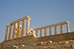 przylądka Greece poseidon sounion świątynia Fotografia Royalty Free
