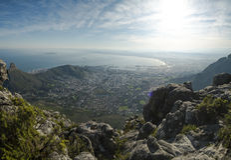 Przylądka grodzki widok od stołowej góry Zdjęcie Royalty Free