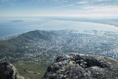 Przylądka grodzki widok od stołowej góry Fotografia Stock