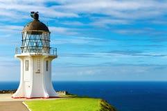 przylądka latarni morskiej nowy reinga Zealand obraz royalty free