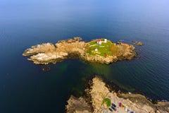 Przylądka Neddick latarnia morska, Stara Jork wioska, Maine zdjęcie royalty free