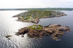 Przylądka Neddick latarnia morska, Stara Jork wioska, Maine obrazy stock