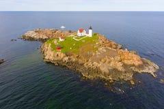 Przylądka Neddick latarnia morska, Stara Jork wioska, Maine fotografia royalty free