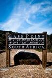 Przylądka punkt Podpisuje wewnątrz Południowa Afryka Zdjęcie Royalty Free