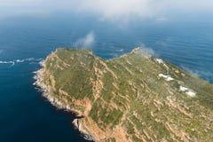 Przylądka punktu Południowa Afryka widok z lotu ptaka Zdjęcie Royalty Free