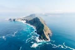 Przylądka punktu Południowa Afryka widok z lotu ptaka Fotografia Royalty Free
