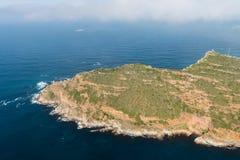 Przylądka punktu Południowa Afryka widok z lotu ptaka Zdjęcie Stock