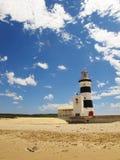 Przylądka recife latarnia morska budował w 1851, południowy Africa Fotografia Stock