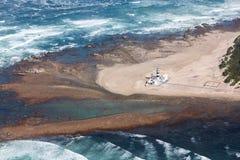 Przylądka Recife linia brzegowa i latarnia morska, Południowa Afryka Zdjęcie Stock