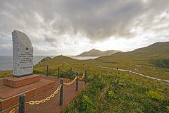Przylądka rogu zabytek i dedykacja kamień zdjęcia royalty free