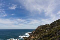 Przylądka Schanck latarnia morska z niebieskimi niebami fotografia stock