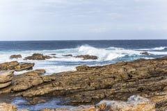 Przylądka St Francis wybrzeże na Ogrodowej trasie, Południowa Afryka obraz royalty free