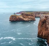 Przylądka St Vincent wybrzeże, Algarve, południowy Portugalia Fotografia Stock