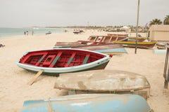 Przylądka Verde łodzie rybackie obrazy stock
