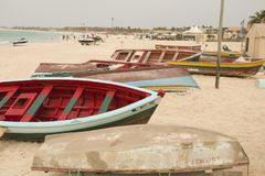 Przylądka Verde łodzie rybackie zdjęcie stock