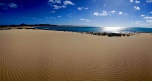 Przylądka verde - opróżnia plażę Zdjęcia Royalty Free